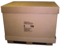 D Container for air shipment