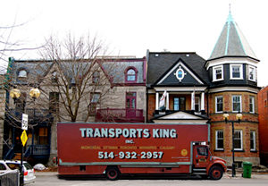 Moving truck in Montreal