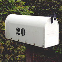 address change - white mailbox